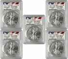 2019 1 American Silver Eagle PCGS MS70 First Strike Eagle Label Lot of 5