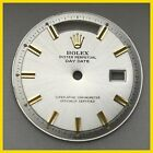 VINTAGE ROLEX 1803, 1802 PRESIDENT WIDE BOY SILVER COLOR  DIAL WITH GOLD MARKER