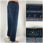Lucky Brand 367 Vintage Boot Mens 32 X 28 Jeans Blue Distressed Pockets Hems