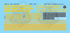 AVR SWP DCR Locomotive N Scale Decal Set Allegheny Valley Railroad