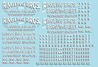 RB303 Ringling Bros  Barnum Bailey Circus RBBB Wagon Decals O Scale