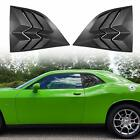 Quarter Side Window Louvers Sun Shade ABS Cover for Dodge Challenger 2008 2019
