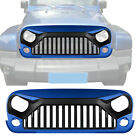 Front BJ PBJ Painted Hydro Blue Grill For Jeep Wrangler JK  Unlimited 2007 2018