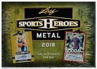 2018 Leaf METAL SPORTS HEROES Collector Card Hobby Box =1 Signed Card per Box