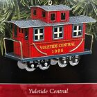 Yuletide Central Red Caboose Train Car 1998 Tin Toy Hallmark Keepsake Ornament