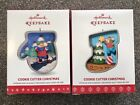 2016 & 2017 Hallmark COOKIE CUTTER CHRISTMAS Ornaments - #5 & #6  in Series NEW!