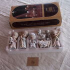9 PIECE 1979 LARGE PRECIOUS MOMENTS COME LET US ADORE HIM NATIVITY  E 2800 5