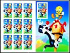 Sylvester  Tweety IMPERFORATED Side Panel Stamp Sheet of 10 MNH Scotts 3205