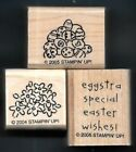 EGGSTRA EASTER Eggs Loads of Love PICK UP truck words STAMPIN UP RUBBER STAMP