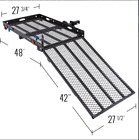 500 TRAILER HITCH WHEELCHAIR OR SCOOTER CARRIER WITH 42 LOADING RAMP
