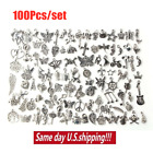 Wholesale 100 1000pcs Bulk Lot Tibetan Silver Mix Charm Pendants Jewelry DIY USA