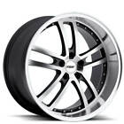 Set4 18 Staggered TSW Wheels Cadwell Gunmetal and Lip Rims