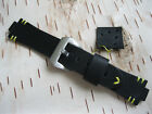 Handmade Leather Watch Strap Oris Aquis, Oris Diver tt1, Black