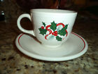 Fiesta Ware Holly & Ribbon Christmas Pattern  U-Choose  Cups/Saucers Sal Plates