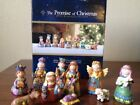 THE PROMISE OF CHRISTMAS ROBERT STANLEY Nativity Scene 10 PIECE SET 2011