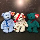 Ty Beanie Baby Holiday Teddy 1998, 1999, & 2001 Christmas Decorations