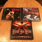 Dio & Last In Line 3CD/DVD LOT Holy Diver & Heavy Crown sweet savage metallica