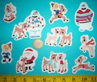 New Rudolph the Red Nosed Reindeer Iron ons Fabric Appliques Iron on