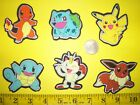 New Cool Pokemons IRON ONS FABRIC APPLIQUES IRON ONS