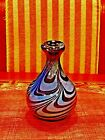 BEAUTIFUL VINTAGE ART GLASS VASE SIGNED 1972