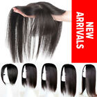 Natural Hairline Clip in 100% Remy Human Hair Mono Topper Hairpiece THICK P133