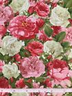 Red White and Pink Roses Candace Allen Quilt Fabric 1 Yard
