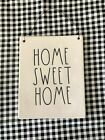 Rae Dunn HOME SWEET HOME Ceramic Wall Plaque Hanging Sign With Wire HTF New