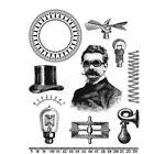 Stampers Anonymous Tim Holtz Cling Mounted Rubber Stamp Set The Professor cms373
