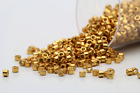 Miyuki Delicas 11 0 Duracoat Galvanized DKGold Plated Seed Beads DB 1833