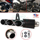Exhaust Muffler Pipe Three-outlet Tail Pipe For Motorcycle System 51mm USA