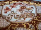Vintage Japanese GOLD IMARI Shallow Bowl SIGNED 95 GOLD Rust RED