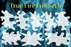 airbrush stencil Flame Template 8 Large Fire Stencils set Spray Vision