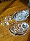 Vintage 1950's Federal Glass 8-Pc Hostess Snack Set, in Orig. Box, Wheat Pattern