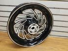 Black Typhoon Mag Wheel Harley Dyna Rear Contrast Cut 4.50x17 OEM superglide FXD