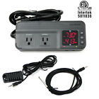 Temperature  Humidity Controller Dual Stage Outlet Thermostat 1800W GreenHouse