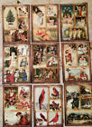 9 Christmas Pocket Craft Card Inserts Scrapbooking Card Making Party Favors