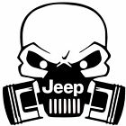 JEEP GASMASK SKULL DECAL CAR TRUCK VINYL STICKER  12 COLORS  10 SIZES