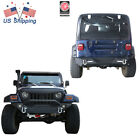 Front+Rear Bumper w LED Lights  2 Receiver Hitch For Jeep Wrangler 97 06 TJ
