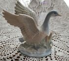 Vintage George Good Porcelain Lladro style Goose signed GAYLORD