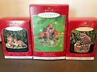 Lot of 3 Hallmark Keepsake Ornaments - Majestic Wilderness Foxes, Timber Wolves,