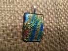 Dichroic Glass Pendant- Handcrafted