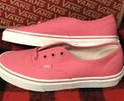 Womens Vans Sneakers Authentic Woven Embossed Pink Lemon Size 75 NEW