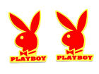Play Boy Bunny Two Stickers Sexy Decal Windshield Fairing Fork Mudflap Fender