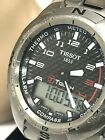 Tissot T-Touch Titanium Swiss Quartz Digital Analog Men's Watch T013420A USED