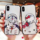 Cute Hello Kitty Doraemon TPU Case with Phone Holder For iPhone 6 7 8 X XR XS