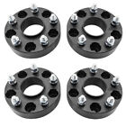 4X 15 Black Wheel Spacers 5x5 for Jeep Wrangler JK Rubicon Hub Centric 5 Lug