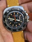 Vintage Roamer Stingray Chrono Diver Chronograph Mens Watch Valjoux 23 Swiss