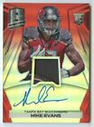 Mike Evans 2014 Panini spectra Buccaneers RC rookie red prizm patch auto 9 10