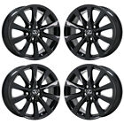 18 LEXUS LS460 LS600HL GLOSS BLACK WHEELS RIMS FACTORY OEM SET 74221