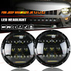 2X 7 Round LED Headlights Lamp w DRL For Jeep Wrangler JK JKU TJ CJ LJ